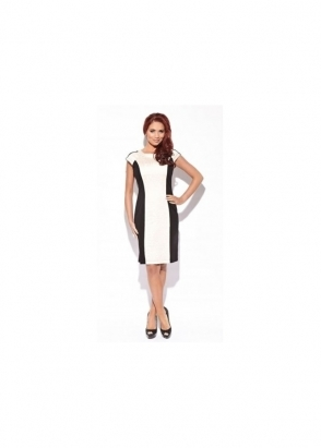 Amy Childs Lottie Dress With Nude Moc Croc Panel