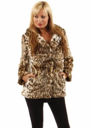 Ruby & Ed Jaguar Faux Fur Jacket