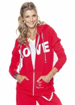 Peace Love World I Am Love L2L Cherry Fleece Hoodie