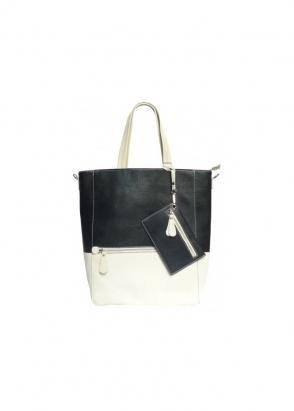 DSUK Butter Soft Cream & Black Casey Tote Bag