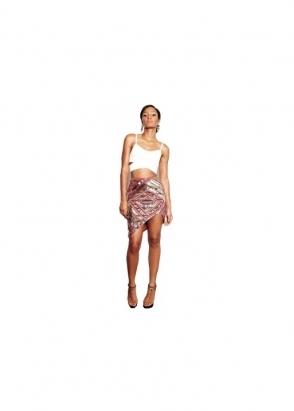 Virgos Lounge Lula Fully Embellished Mini Skirt