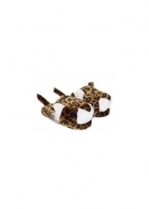 Designer Desirables Snuggly Leopard Novelty Mule Slippers
