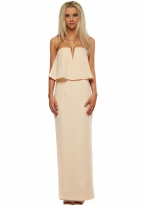 Jarlo Poppy Dress In Blush With Bandeau Frill