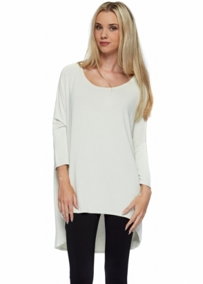 A Postcard From Brighton Flirty Bone Flighty Dip Hem Slouch Top