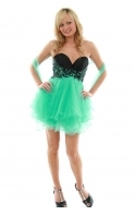 Cody Aqua Tulle Butterfly Prom Dress