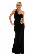 Ball Gown - One Shoulder Gold Chain Goddess Style 8510