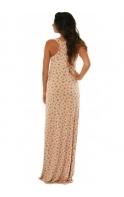 Dress Nude Rose Print Jersey Dystsy Maxi