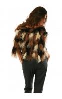 Cardigan Mongolian Fur Patchwork Jakes Bolero