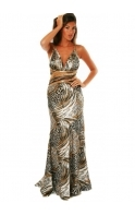 Evening Dress Faith Leopard Print Embellished Ball Gown