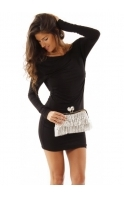 Clutch Chainmail Frill Crystal Clasp Evening Clutch Bag