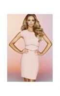 By Lauren Pope Dress Dusky Pink Pleated Detail Shift Dress