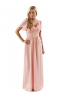 Dress Elaine 20's Inspired Embroidered Pink Maxi Dress