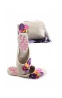 Slippers Linen Blossom Mules
