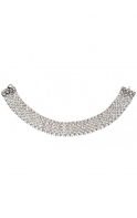 Champagne Bella Crystal Band Silver Choker Necklace