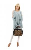 Black Leopard Print Doctors Tote Bag