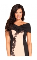 Miley Off The Shoulder Lace Midi Dress