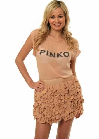 Pinko Skirt Georgette Ruffles & Paillettes