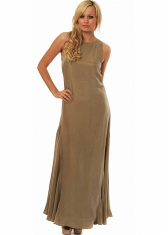 Gestuz Maxi Dress With Cut Out Back