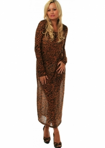Minkpink Dress Into The Wild Leopard Print Maxi Dress