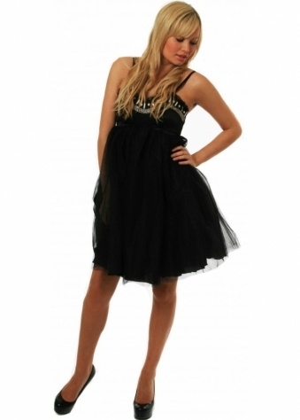 Charming Dress Ozel Organza Embellished Prom Dress
