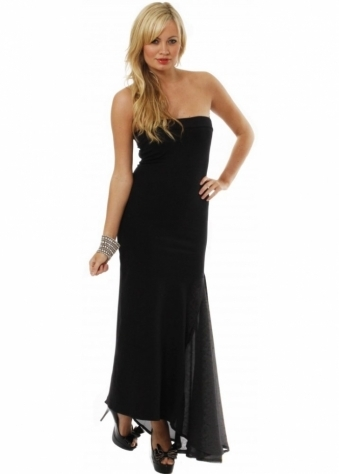 Dress Drape Insert Maxi Dress In Black
