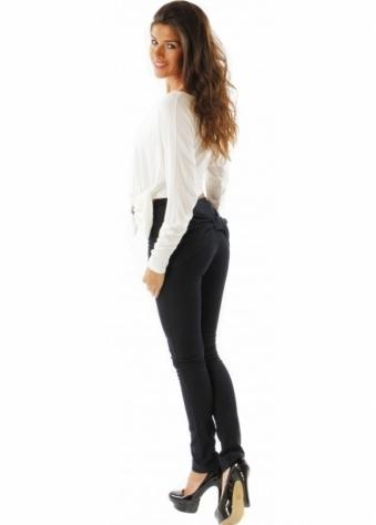 Lisa Jayne Dann Jeans Oversized Bow Back Detail Skinny Leg Trousers