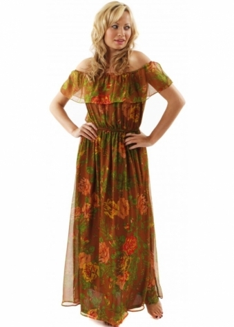 Traffic People Blessings Dress Rambling Rose Silk Maxi Dress