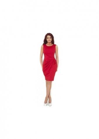 Amy Childs Dress Verity Bow Detail Red Stretch-Jersey Fitted Dress