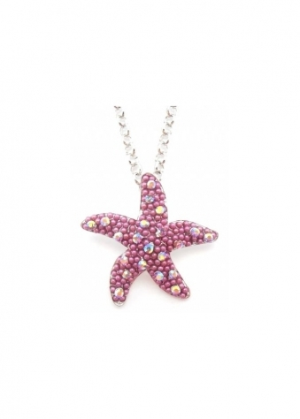 Starfish Necklace Limited Edition Amethyst Czech Crystals