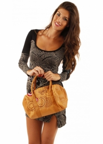 Desigual Mars Embossed Butterfly Print Bowling Bag