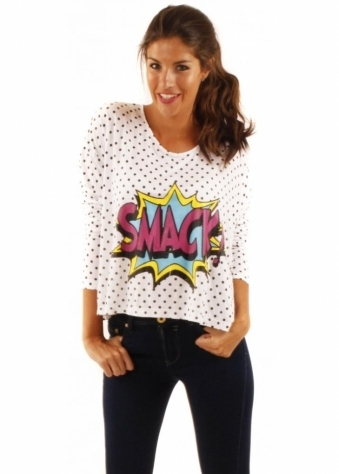 Fairground Cosmic Smack Oversized Long Sleeved Top