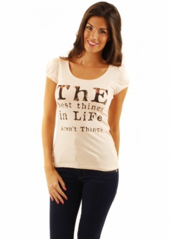 ICHI T-Shirt 'The Best Things In Life Aren't Things'