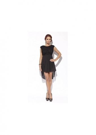 Amy Childs Lily Rose Black Baby Doll Dress