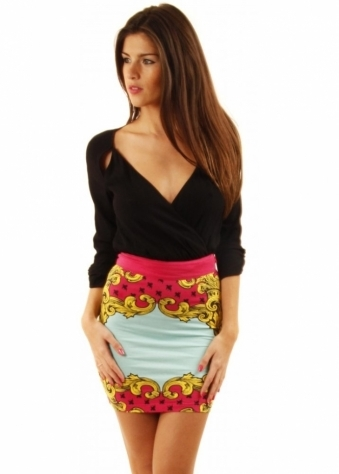 Fairground Skirt Mirror Print Mini Tube Skirt