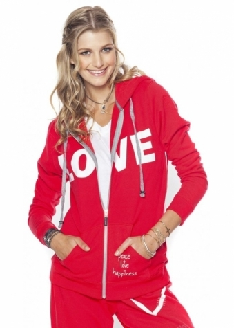Peace Love World I Am Love L2L Cherry Fleece Hoodie