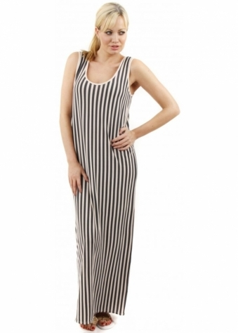 A Postcard From Brighton Rock Grove Stripe Blush Pink Maxi Dress