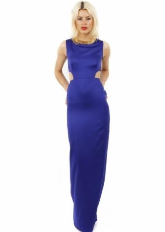 Bill+Mar Cobolt Cut Out Maxi Dress