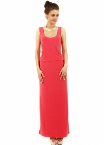 Honor Gold Vanessa Coral Maxi Dress
