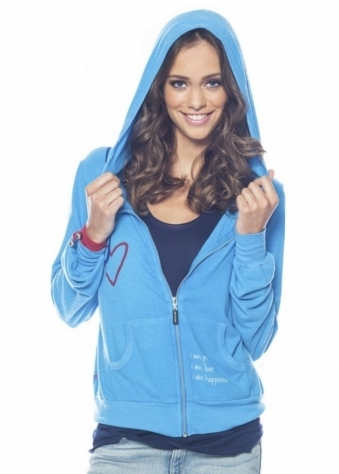 I Am Hooked On Love Sea Blue Hoodie