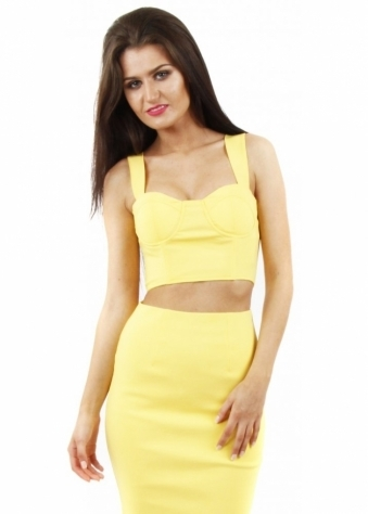 Kai Yellow Bustier Crop Top