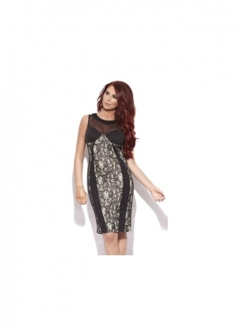 Amy Childs Karla Lace Panel Body Con Dress