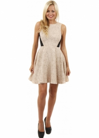 Olive Nude Fit & Flare Skater Dress