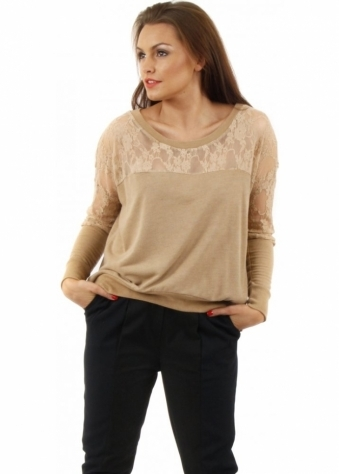 A Postcard From Brighton Racey Lacey Burnt Caramel Sweater