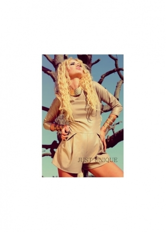 Faux Leather Long Sleeve Playsuit