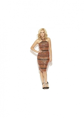 Liquorish Multi Coloured Sequin Midi Dress