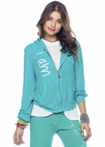 Peace Love World I Am Protected Ivy Comfy Hoodie
