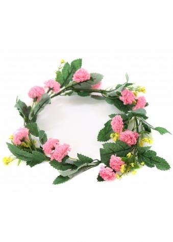 Larraine Pink Wild Flowers Hair Garland