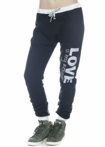 Peace Love World Love Is My Religion L2L Black Kanga Pant