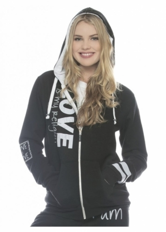 Peace Love World Love Is My Religion L2L Black Zip Up Hoodie