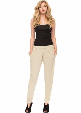 A Postcard From Brighton Lola Sweat Pant Style Casual Pants In Morning Gold